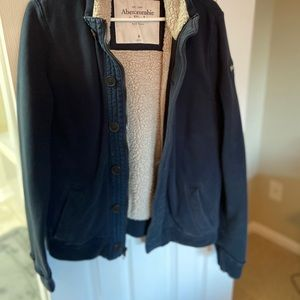 Abercrombie & Fitch button up sweatshirt
